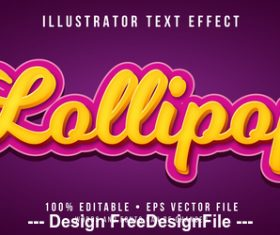 Golden editable font effect text vector