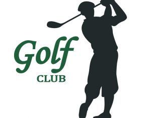 Golf club card vector