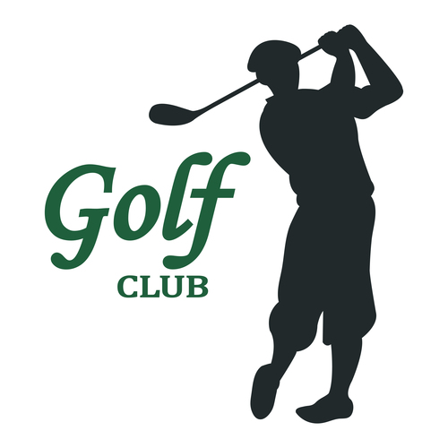 Golf club card vector