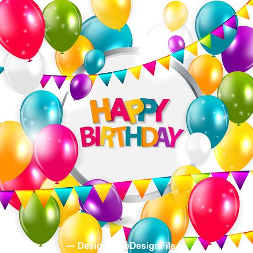 Gorgeous birthday card vector