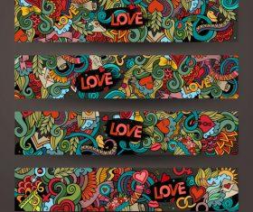 Graffiti background banner vector