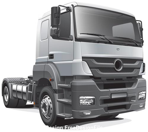 Gray truck head vector