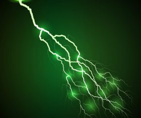 Green lightning vector