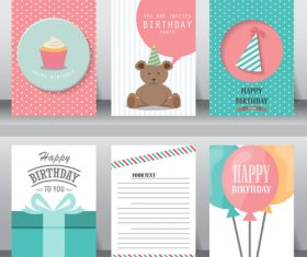 Greeting card set vector