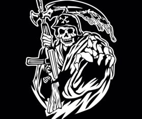 Grim reaper logo vector