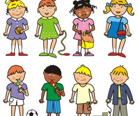 Group of children fotolia vector