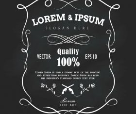 Hand drawn frame label vector illustration