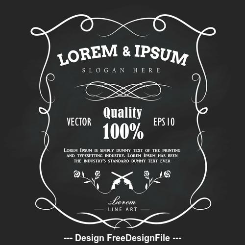 Hand drawn frame label vector illustration