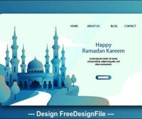 Happy ramadan kareem landing page vector