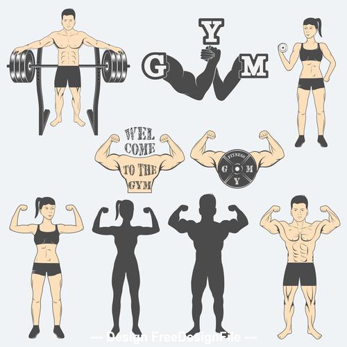 Healthy body icon vector