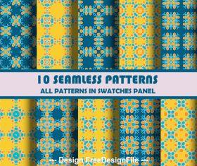 Hexagon geometric seamless pattern vector