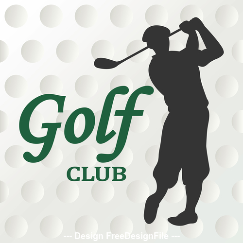 Hit golf silhouette vector