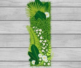 I floral letters vector