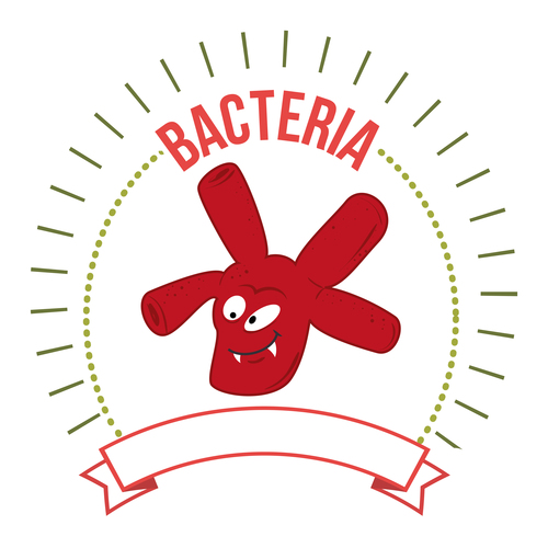 Icon bacteria vector