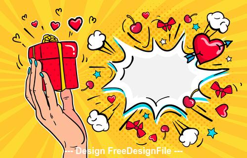 Illustration in pop art style vector