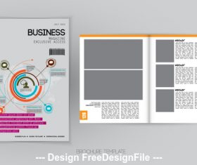 Information brochure template vector