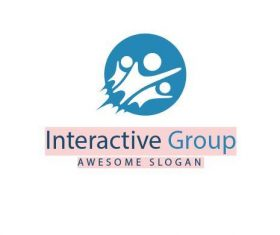 Interactive group logo vector