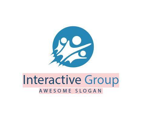Interactive group logo vector