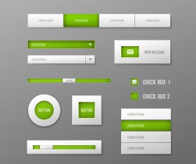 Interface button design element vector