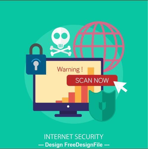Internet security elements vector