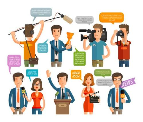 Interview dialogue background vector