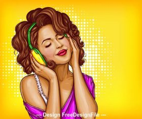 Intoxicated pop art illustration style vector