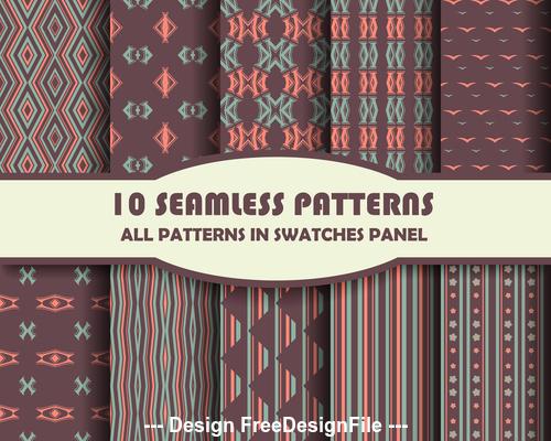 Irregular seamless pattern vector
