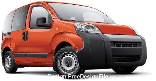 Italian leisure activity vehicle vector
