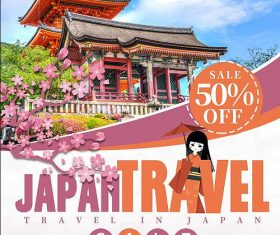 Japan Travel Flyer PSD Template