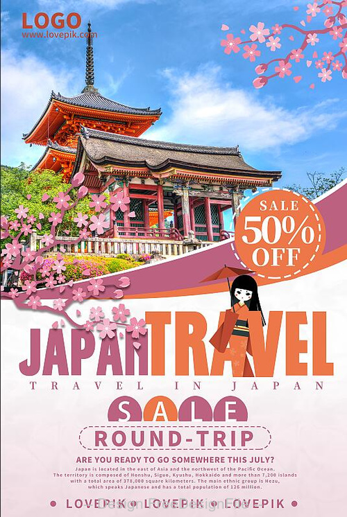 Japan Travel Flyer PSD Template