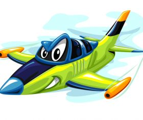 Jet fighter cartoon vector