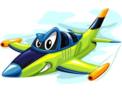 Jet fighter cartoon vector