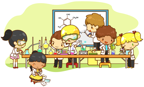 Laboratory japanese manga vector