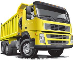 Lagre yellow truck vector