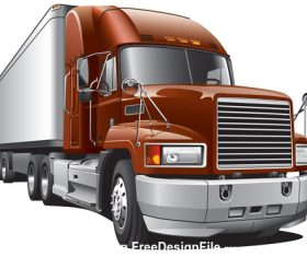 Large cargo truck vector