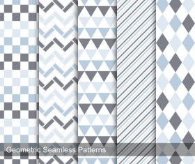 Lattice and triangle seamless background pattern vector