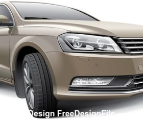 Light brown car vector