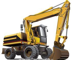 Light-brown excavator vector