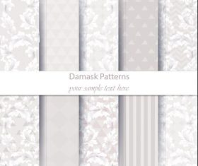 Light damask patterns vector