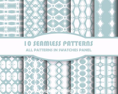 Light geometric seamless pattern vector