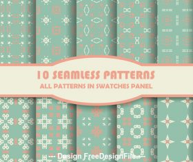 Light green geometric lattice seamless pattern vector