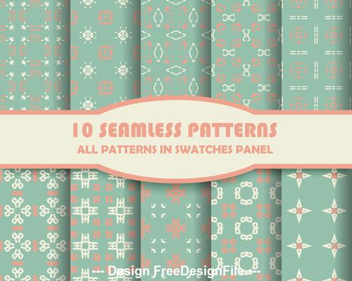 Light green geometric lattice seamless pattern vector