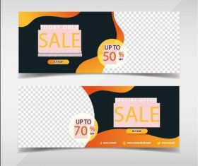 Limited Time Promotion banners template vector