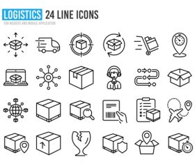 Logistics line icon vector