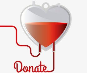 Logo blood donation vector