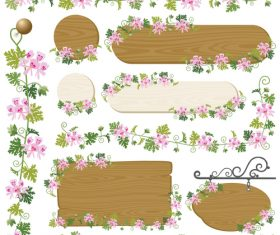 Long and round wooden frame vector