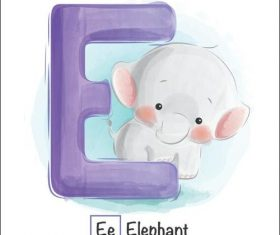 Look at the picture literacy E letter vector