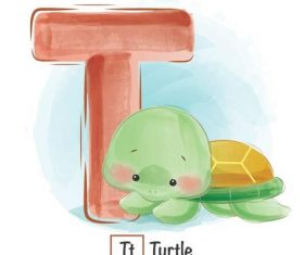 Look at the picture literacy T letter vector