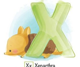 Look at the picture literacy X letter vector