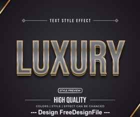 Luxury editable font effect text vector